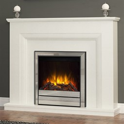 Elgin & Hall Amorina Novus Marble Electric Fireplace Suite