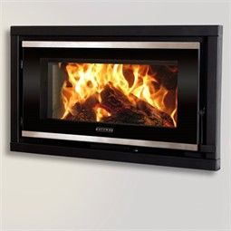 Portway Panoramic Glass Wood Burning Cassette Fire