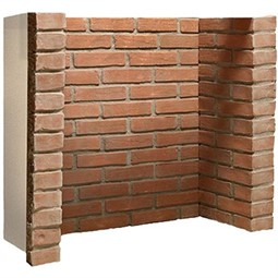 Gallery Rustic Brick With Returns Only Fireplace Chamber Panels