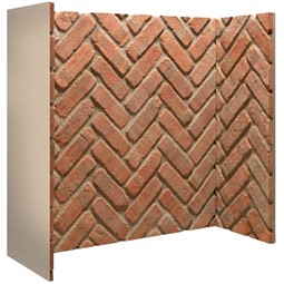 Gallery Rustic Herringbone Brick Fireplace Chamber Panels