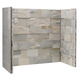 Gallery Dove Grey Stone Fireplace Chamber Panels