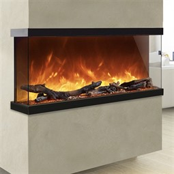 AGA Rayburn Stratus Tru View 100 3-Sided Electric Fire