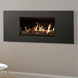 Gazco Studio Steel 2 MK2 Wall Mounted Gas Fire (Glass Fronted)