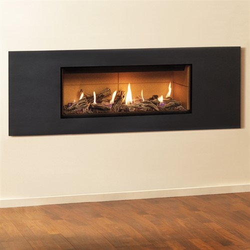 Gazco Studio Steel 2 Wall Mounted Gas Fire (Balanced Flue)