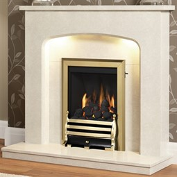 Be Modern Tasmin Marble Fireplace Suite