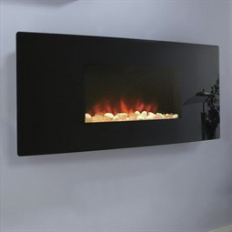 Celsi Accent Black Curved Electric Fire