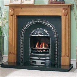 Cast Tec Tulip Solid Wood Fireplace