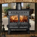 Hunter Herald 8 Double Sided Wood Burning / Multi-Fuel Stove