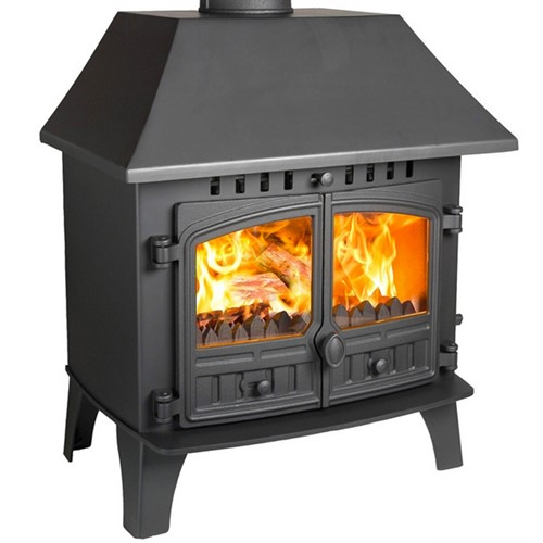 Hunter Herald 14 Wood Burning / Multi-Fuel Stove (with Clip-In Boiler)