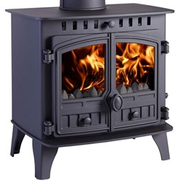 Hunter Herald 6 Wood Burning / Multi-Fuel Stove (with Clip-In Boiler)