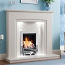 Be Modern Carmela Marble Fireplace Suite