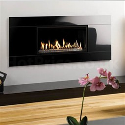 Gazco Studio Glass Wall Mounted Gas Fire Open Fronted