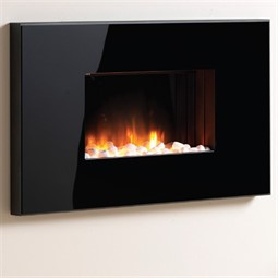 Flamerite Fires Corello 2 Wall Mounted LED Electric Fire - Black Mirror