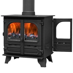 Dunsley Highlander 8 Double Sided Wood Burning / Multi-Fuel Stove