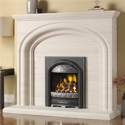 Pureglow Wychbury Limestone Fireplace Suite with Gas Fire