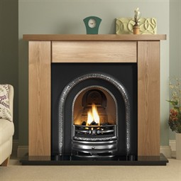 Pureglow Stanford Fireplace Suite with Lytton Arch (with Fire)