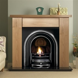 Pureglow Stanford Fireplace Suite with Jubilee Arch (with Fire)