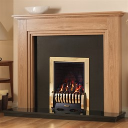 Pureglow Whitton Fireplace Suite with Media Gas Fire