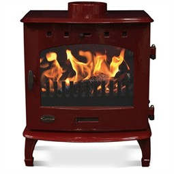Carron 7.3kW Multi-Fuel / Wood Burning Stove - Red Enamel