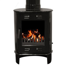 Carron Dante Multi-Fuel / Wood Burning Stove - Black Enamel
