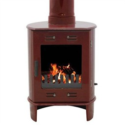 Carron Dante Multi-Fuel / Wood Burning Stove - Red Enamel