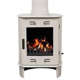 Carron Dante Multi-Fuel / Wood Burning Stove - Cream Enamel