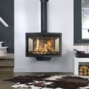 Wanders Black Diamond Wall Hanging Wood Burning Fireplace Stove