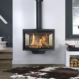 wanders black diamond wall hanging wood burning fireplace. Black Bedroom Furniture Sets. Home Design Ideas