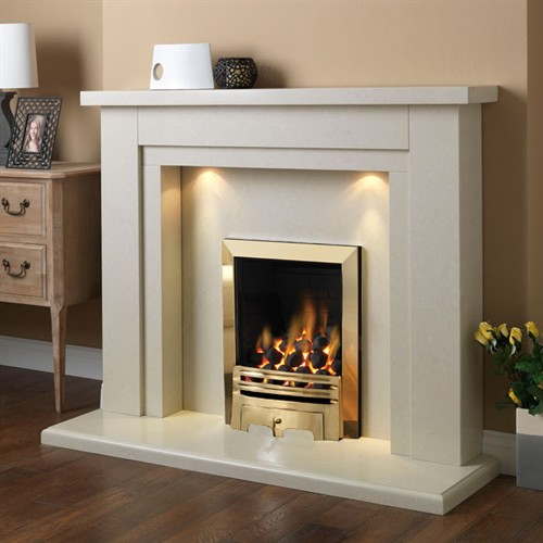 Pureglow Hanley Marble Fireplace Suite with Gas Fire