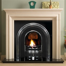 Pureglow Wenlock Limestone Fireplace Package (with Cast & Fire)