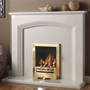 Pureglow Ashton Marble Fireplace Suite with Gas Fire