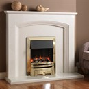 Pureglow Ashton Marble Fireplace Suite with Electric Fire