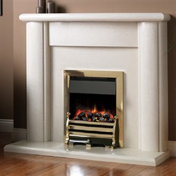 Pureglow Marlbrook Marble Fireplace Suite with Electric Fire