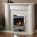 Pureglow Marlbrook Marble Fireplace Suite with Gas Fire