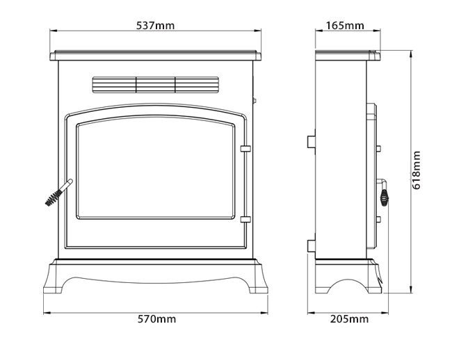 Be Modern Elstow Electric Stove Sizes