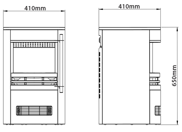 Be Modern Tunstall Electric Stove Dimensions