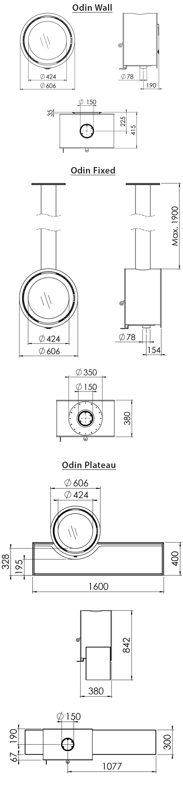 Dik Geurts Odin Wood Burning Stove Sizes
