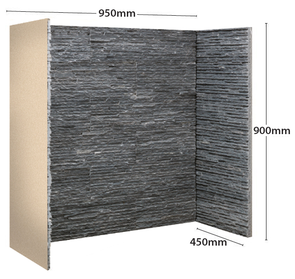 Gallery Graphite Slate Waterfall Fireplace Chamber Panels Sizes