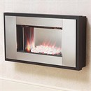 Be Modern Alonzo Wall Mounted Electric Fire (Brushed Steel Finish)