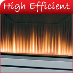 High Efficiency Gas Fires from leading manufacturers