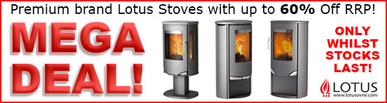 LOTUS WOOD BURNING STOVES DEALS