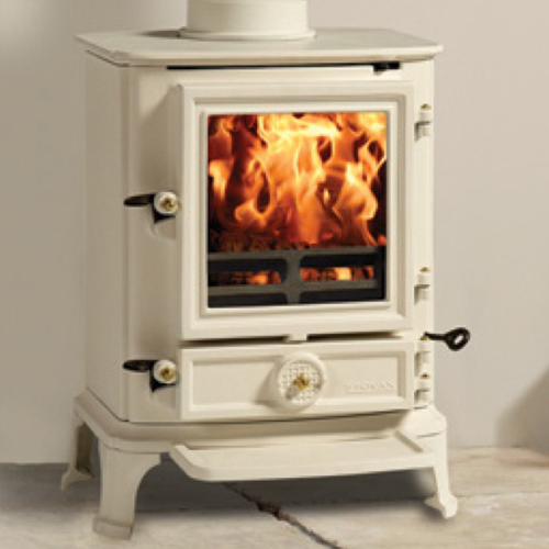 Clearance Stovax Brunel 2CB Multifuel Stove in Ivory Enamel
