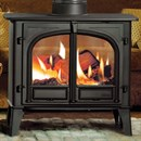 CLEARANCE Stovax Stockton 11 Double Sided Wood Burning Stove