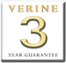 Verine 3 Year Warranty